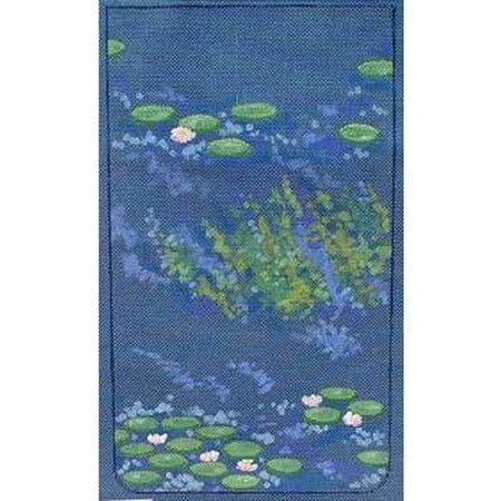 Waterlily Purse Canvas - needlepoint