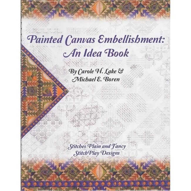 Painted Canvas Embellishment Book - needlepoint