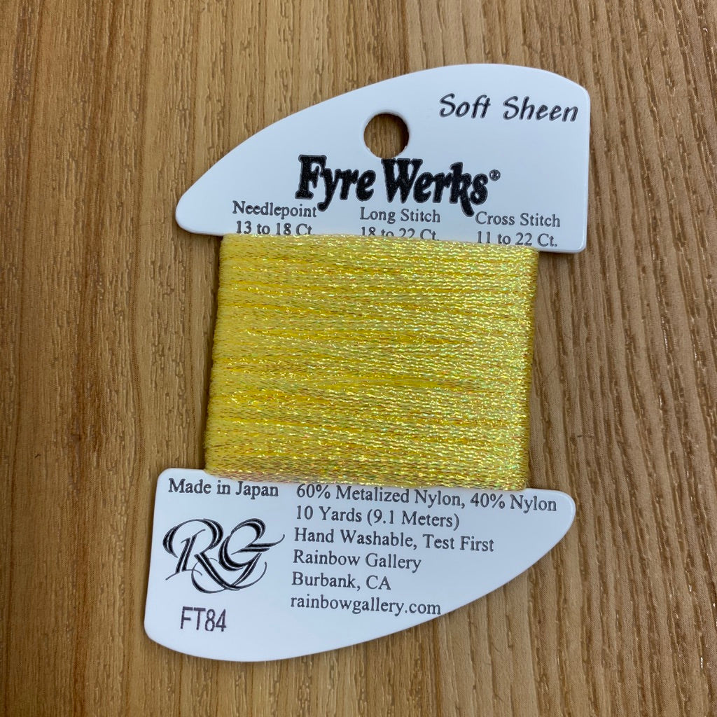 Fyre Werks Soft Sheen FT84 Yellow Pearl - needlepoint