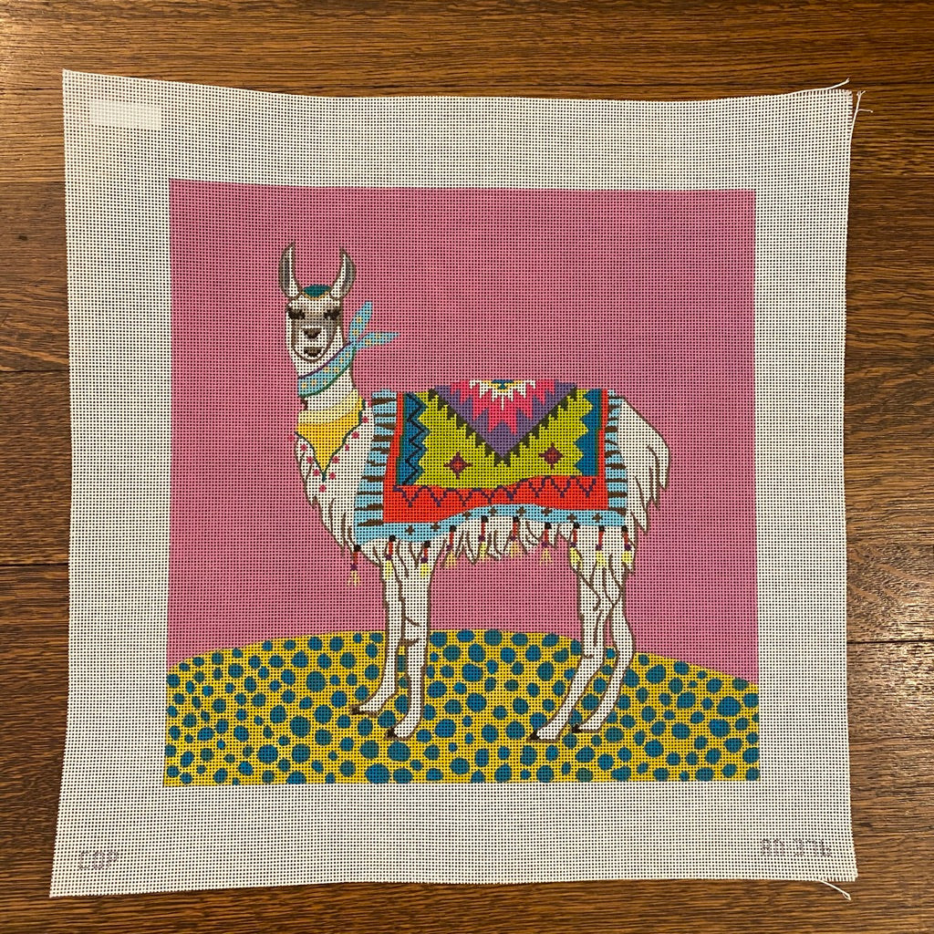 Llama Canvas-Needlepoint Canvas-KC Needlepoint