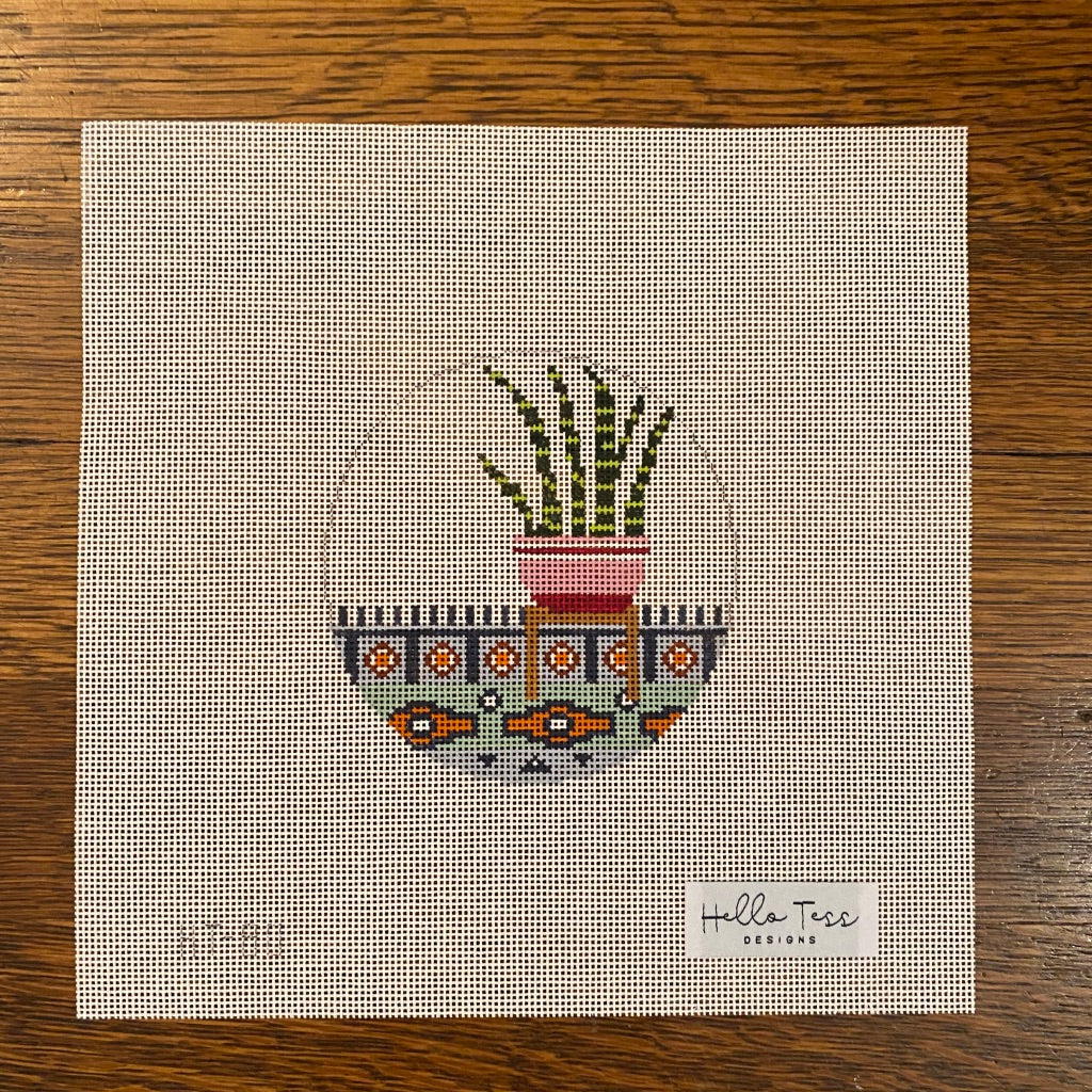 Indoor Snake Plant Canvas - KC Needlepoint