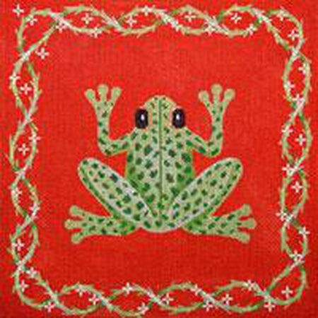 Frog & Vines Canvas-Needlepoint Canvas-JP Needlepoint-KC Needlepoint