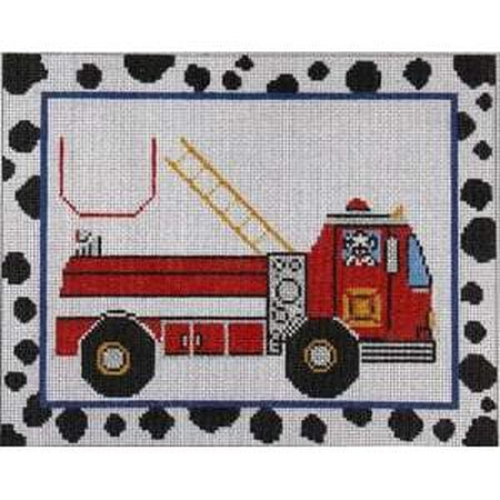 Fire Truck Tooth Fairy Pillow Canvas - needlepoint