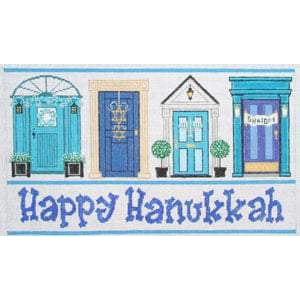 Hanukkah Doors Canvas