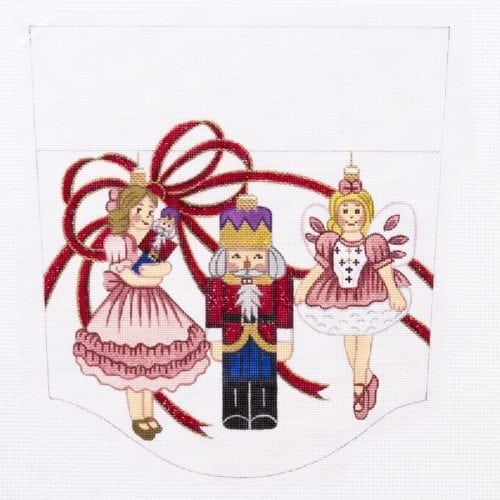 Nutcracker Stocking Cuff Canvas-Needlepoint Canvas-Alexa Needlepoint Designs-KC Needlepoint