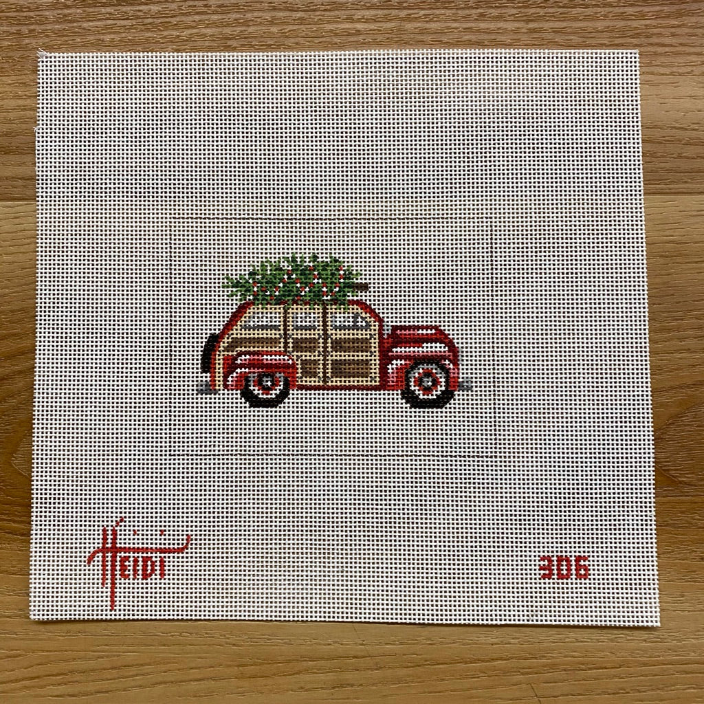 Woody Station Wagon Canvas - KC Needlepoint