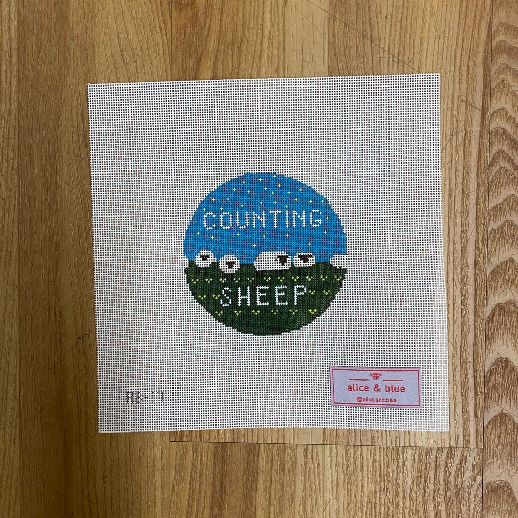 Counting Sheep Canvas-Needlepoint Canvas-KC Needlepoint