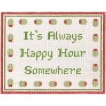 It's Always Happy Hour Canvas - KC Needlepoint