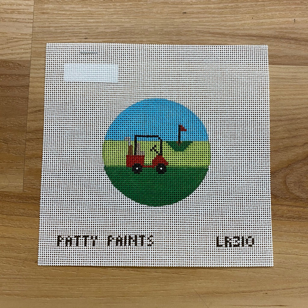 Golf Round Needlepoint Canvas