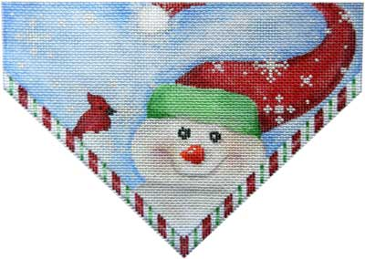 Snowman Stocking Topper Canvas - needlepoint