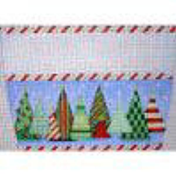 Funky Forest Stocking Topper Canvas - needlepoint