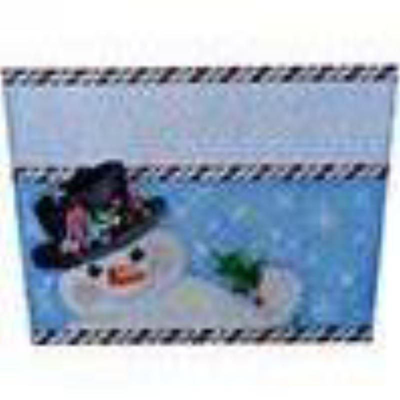 Snowman/Top Hat Stocking Topper Canvas - needlepoint
