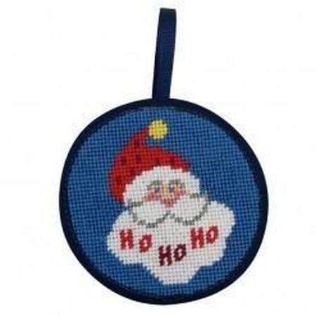 Round Ornament Needlepoint Kits-Needlepoint Canvas-Alice Peterson-Hohoho Santa-KC Needlepoint