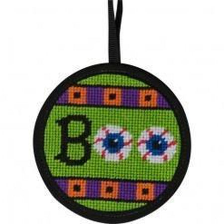 Round Ornament Needlepoint Kits-Needlepoint Canvas-Alice Peterson-Boo-KC Needlepoint
