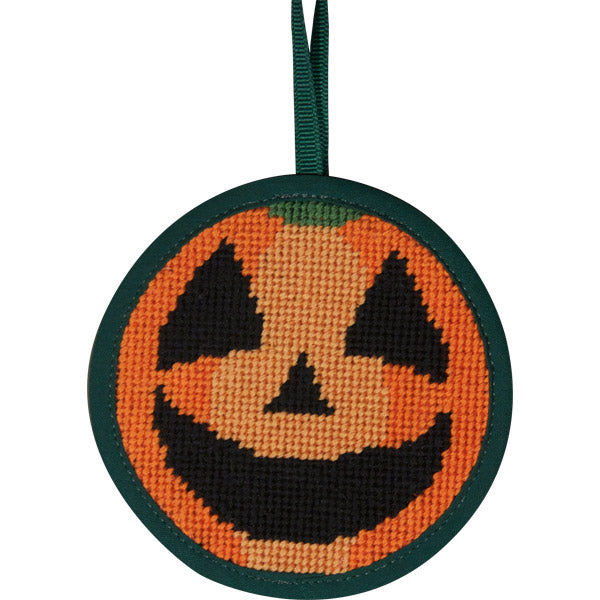Round Ornament Needlepoint Kits-Needlepoint Canvas-Alice Peterson-Pumpkin-KC Needlepoint