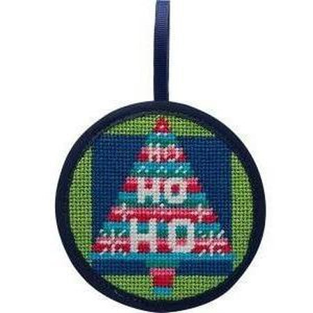 Round Ornament Needlepoint Kits-Needlepoint Canvas-Alice Peterson-Hohoho Tree-KC Needlepoint