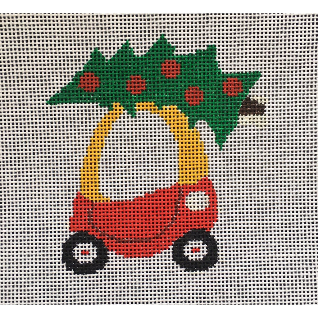 Little Tykes Car Canvas - needlepoint