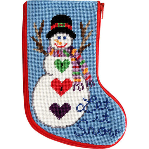 Let It Snow Mini Sock Kit-Needlepoint Canvas-Alice Peterson-KC Needlepoint