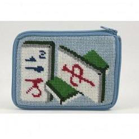 Mahjong Coin Purse Kit - needlepoint