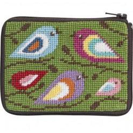 Birds of Color Coin Purse Kit-Needlepoint Canvas-Alice Peterson-KC Needlepoint