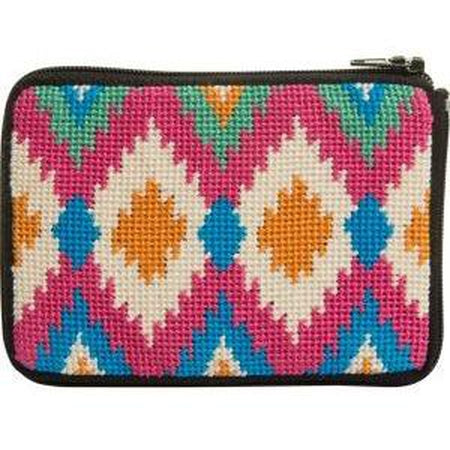 Ikat Coin Purse Kit-Needlepoint Canvas-Alice Peterson-KC Needlepoint