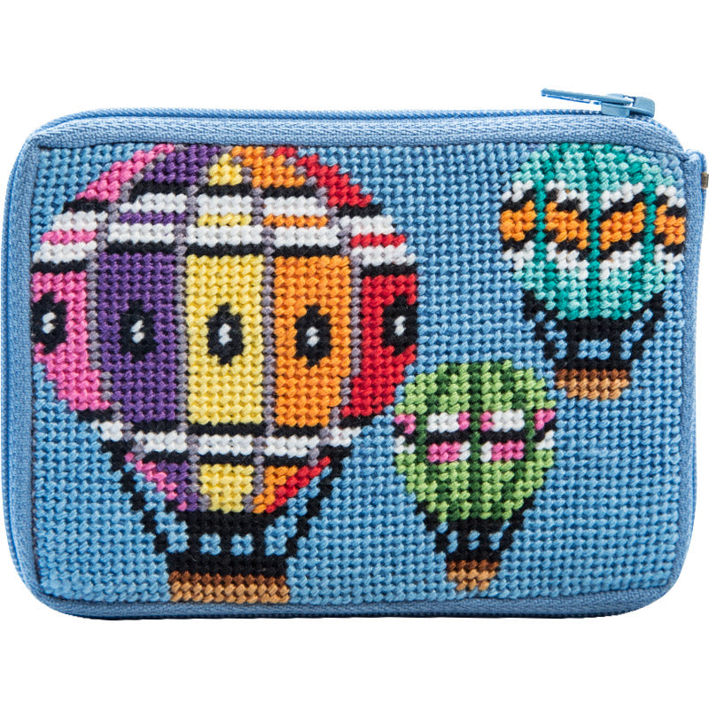 Balloons in Flight Coin Purse Kit-Alice Peterson-KC Needlepoint