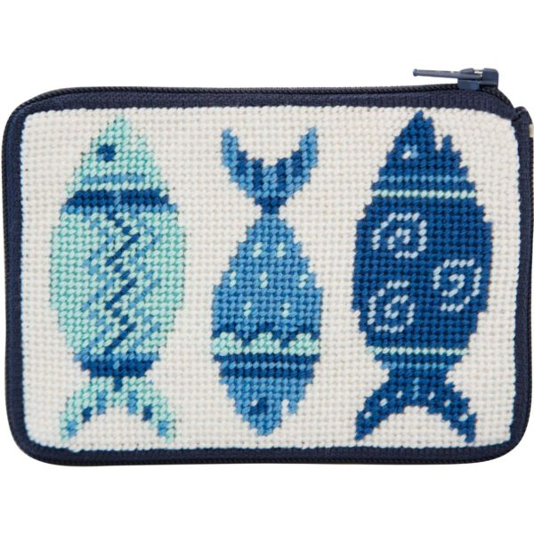 Blue Fishes Coin Purse Kit