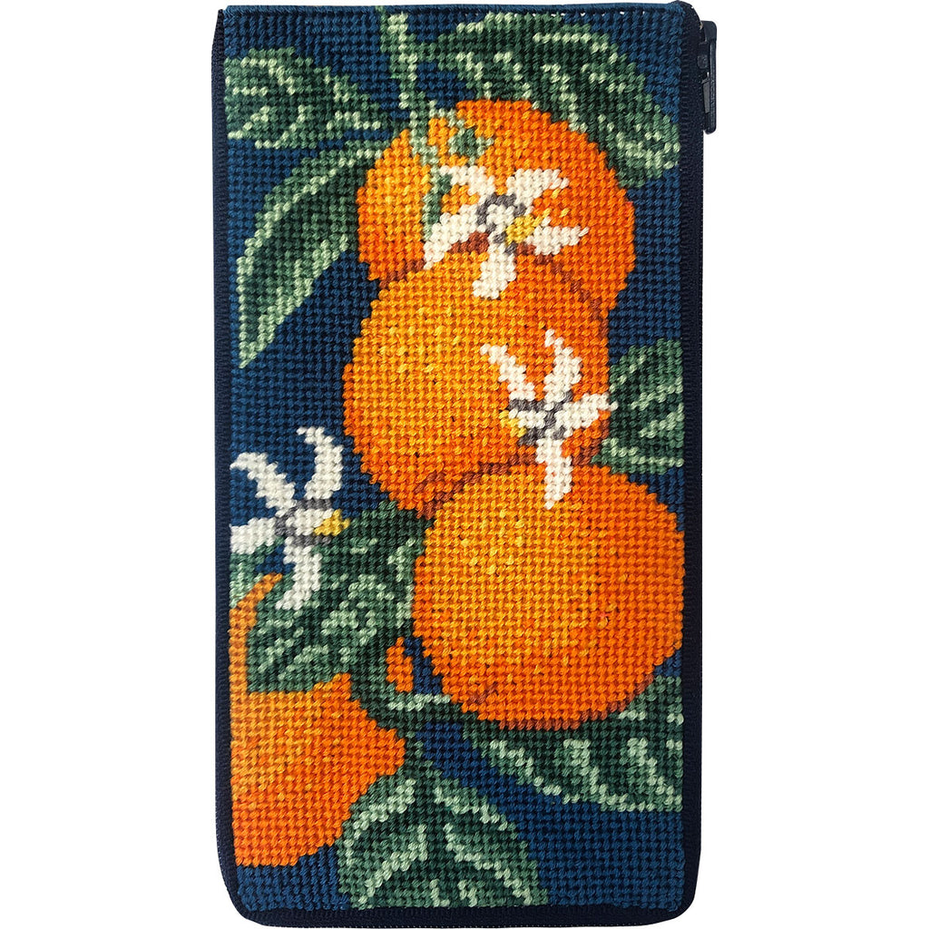 Oranges Eyeglass Case Kit-Needlepoint Canvas-Alice Peterson-KC Needlepoint