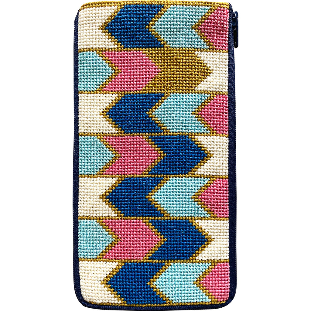 Geometric Arrows Eyeglass Case Kit - needlepoint