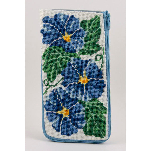 Morning Glories Eyeglass Case Kit-Alice Peterson-KC Needlepoint
