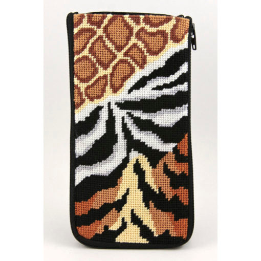 Animal Skins Eyeglass Case Kit - needlepoint