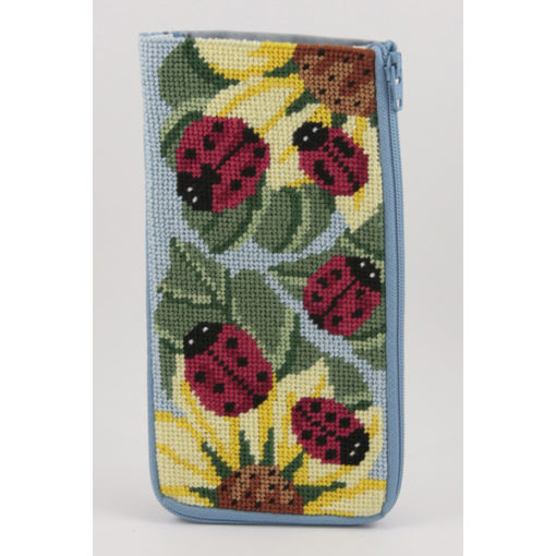 Ladybugs Eyeglass Case Kit-Needlepoint Canvas-Alice Peterson-KC Needlepoint