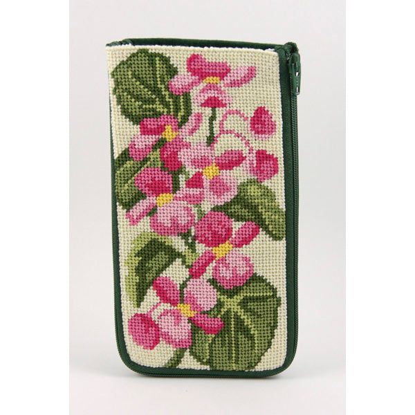 Begonia Eyeglass Case Kit-Needlepoint Canvas-Alice Peterson-KC Needlepoint