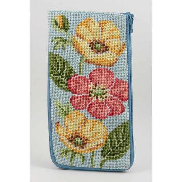 Buttercups Eyeglass Case Kit-Needlepoint Canvas-Alice Peterson-KC Needlepoint