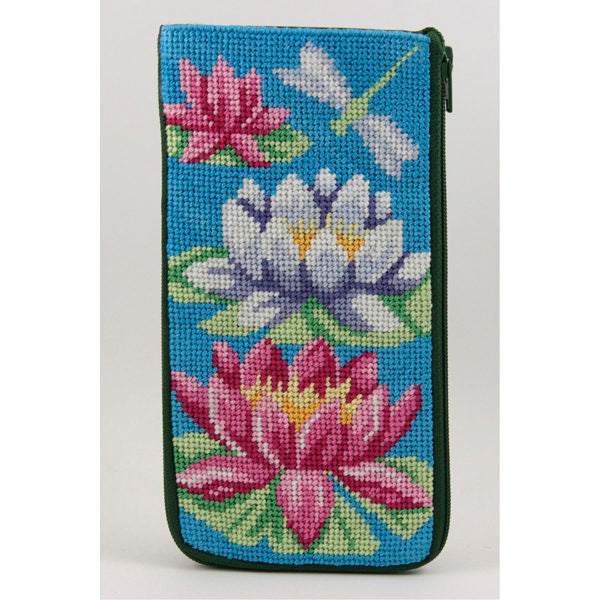 Waterlily Eyeglass Case Kit-Alice Peterson-KC Needlepoint