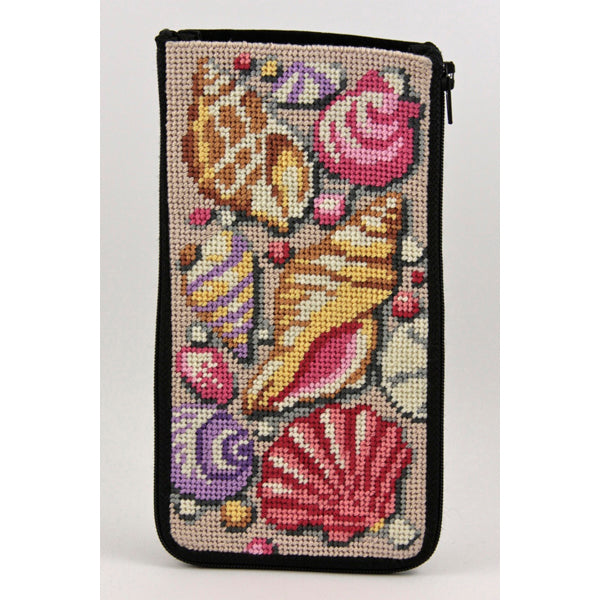 Shells Eyeglass Case Kit-Needlepoint Canvas-Alice Peterson-KC Needlepoint