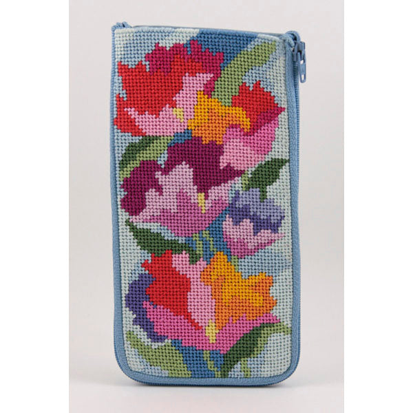 Watercolor Poppies Eyeglass Case Kit-Alice Peterson-KC Needlepoint
