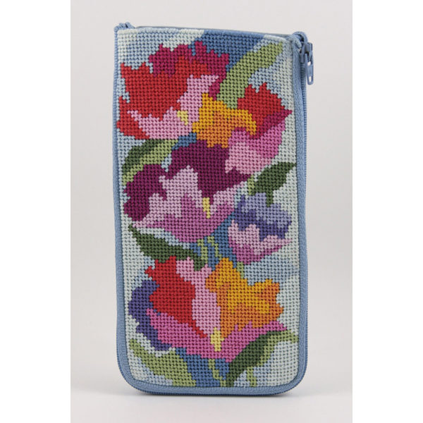 Watercolor Poppies Eyeglass Case Kit - KC Needlepoint