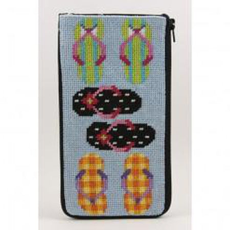 Flip Flops Eyeglass Case Kit-Needlepoint Canvas-Alice Peterson-KC Needlepoint