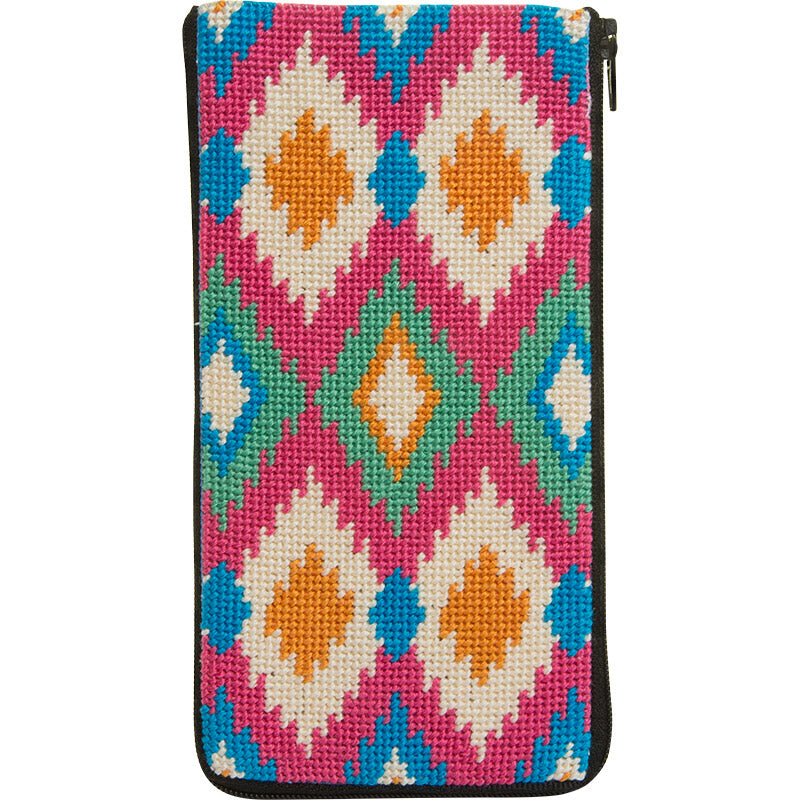 Ikat Eyeglass Case Kit-Alice Peterson-KC Needlepoint