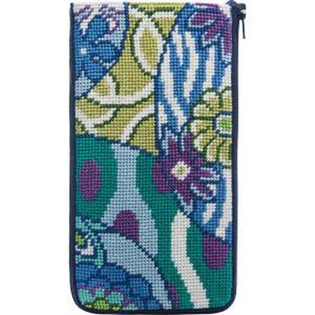 Imari Eyeglass Case Kit-Needlepoint Canvas-Alice Peterson-KC Needlepoint