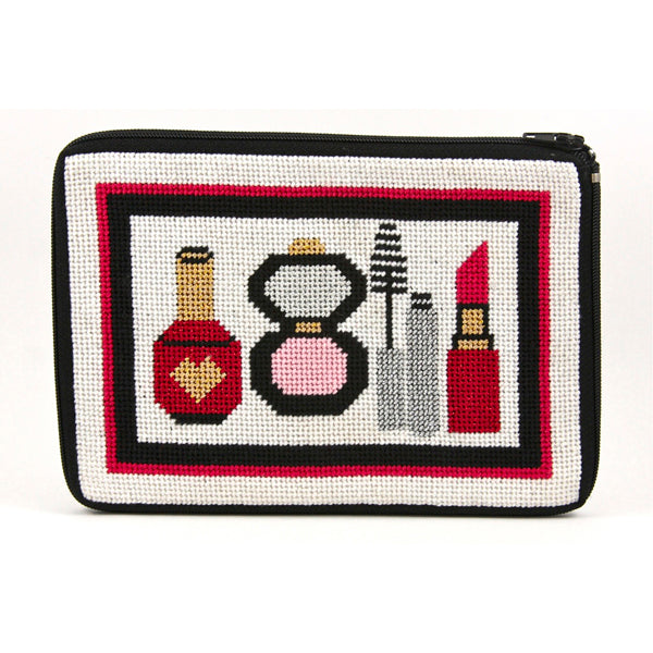 Make Up Purse Kit-Needlepoint Canvas-Alice Peterson-KC Needlepoint