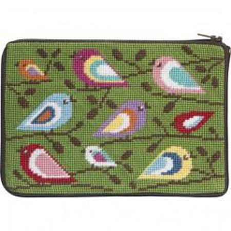 Birds of Color Purse Kit-Needlepoint Canvas-Alice Peterson-KC Needlepoint