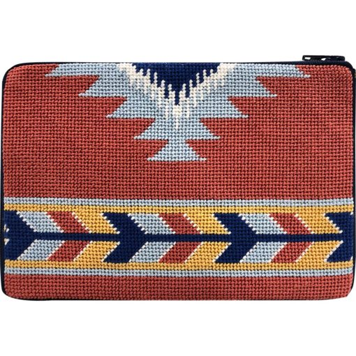 Southwest Cosmetic Purse Kit-Needlepoint Canvas-Alice Peterson-KC Needlepoint
