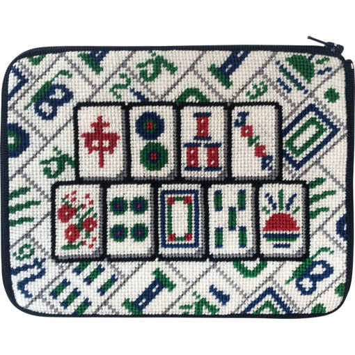 Mah Jongg Tiles Purse Kit-Needlepoint Canvas-Alice Peterson-KC Needlepoint