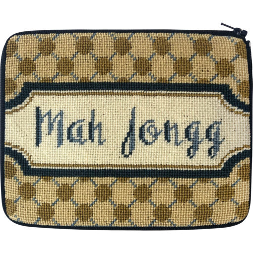 Mah Jongg Dots Purse Kit - needlepoint