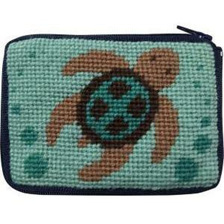 Kids Coin Case Kit-Needlepoint Canvas-Alice Peterson-Turtle-KC Needlepoint
