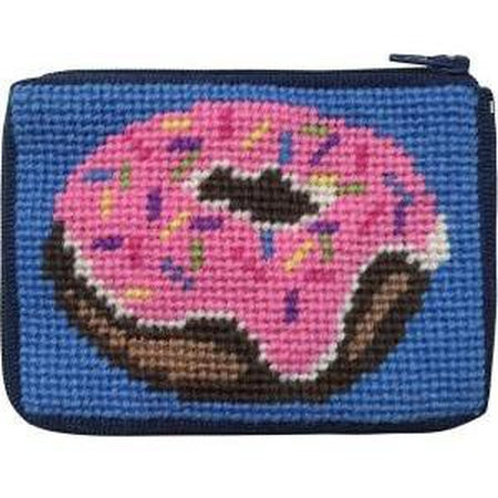 Kids Coin Case Kit-Needlepoint Canvas-Alice Peterson-Donut-KC Needlepoint