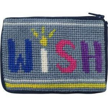 Kids Coin Case Kit-Needlepoint Canvas-Alice Peterson-Wish-KC Needlepoint