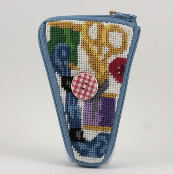Sewing Scissors Case Kit-Needlepoint Canvas-Alice Peterson-KC Needlepoint